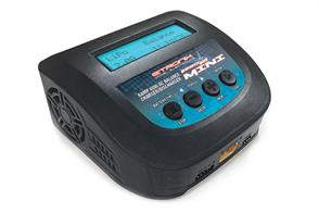 With an integrated power unit, the PowerPal Mini features a compact and lightweight design for simple, use anywhere charging for most regular modelling applications. Delta peak charge software to suit all popular battery types, the PowerPal Mini's simple and intuative touch button menu screen scrolls through adjustable settings for cell type, charging, discharging, balancing and storage options.