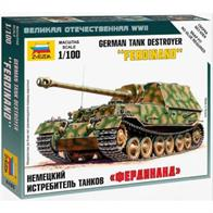 Zvezda 6195 1/100 Scale German Sd.Kfz.184 Ferdinand Self Propelled Gun