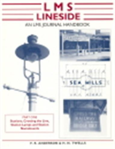 Wild Swan LMS Lineside Handbook Part One - Anderson & Twells 9781905184316The LMS Lineside Handbook provides the LMS modeller with an extensively illustrated reference to the stations, buildings, signage and lineside equipment of the LMS railway.Part one covers stations, crossings, station lamps, nameboards and a vast range of signage is visible in context. Several structures are illustrated with photographs and drawings providing a sample of small station buildings, station canopys with details of brackets and footbridges. These can easily be adapted  by the modeller to suit their own layout while retaining the essential 'house style'.112 pages, A4 format, softback.
