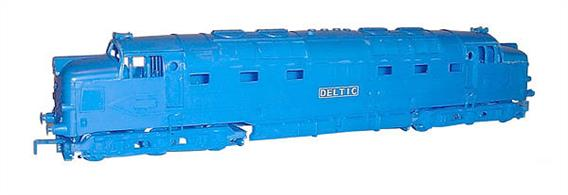 Dapol OO Deltic Diesel (Kit) C9A good plastic kit of the prototype deltic locomotive.Please note that this kit is NOT powered but it is possible to fit a drive mechanism as you build the model.Moulded in blue plasticGlue and paints are required to assemble and complete the model (not included)