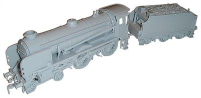 Dapol OO BR Schools Class Locomotive Kit C35Moulded in grey plasticGlue and paints are required