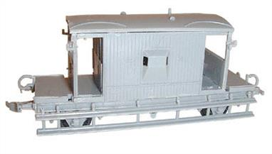 Dapol C38  00 Gauge BR Brake Van KitGlue and paints are required to assemble and complete the model (not included).