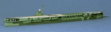 As the Combined Fleet was withdrawn to home waters at the end of WW2, the Japanese started to apply unique green disruptive paint schemes to their aircraft carriers.