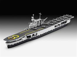 Revell 1/1200 USS Hornet Kit 05823 in waterlineLength 206mm  Number of Parts 36Glue and paints are required to assemble and complete the model (not included)