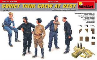 Mini Art 35246 1/35 Scale Soviet Tank Crew at Rest