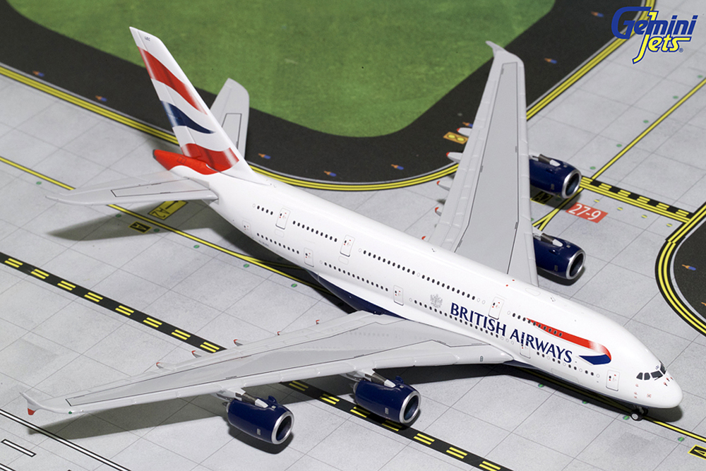 Gemini Jets 1/400 British Airways Airbus A380 G-XLEC Aircraft Model GJBAW1679