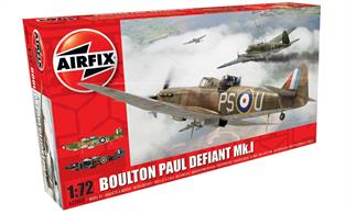 Airfix 1/72 Boulton Paul Defiant Fighter Kit A02069Length 150 Number of Parts 70 Wingspan 166