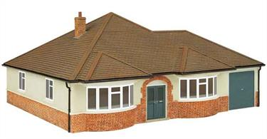 Fully painted resin model of a bungalow