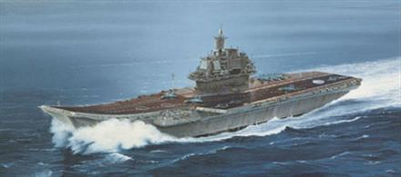 Italeri 1/720 USSR Kuznetsow Aircraft Carrier Kit 518Glue and paints are required to assemble and complete the model (not included)