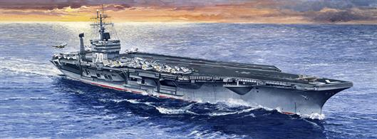 Nicely detailed plastic model kit for the aircraft carrier USS Carl Vinson. Full instructions are included together with a sheet of decals.Dimensions - Length 447mm.