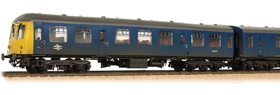 Bachmann Branchline 31-325A. OO Gauge BR Cravens Class 105 2 Car Diesel Multiple Unit BR Blue Weathered Finish.