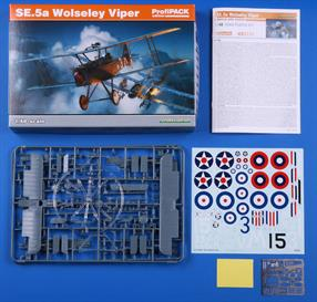 As Eduard celebrate 25 years of production we have the new 1/48 Se.5A to astound us witha 5 option decal sheet this is a superb kit of the iconic British fighter
