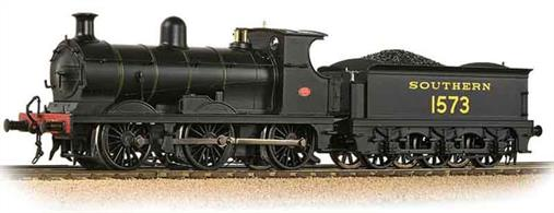 Model of Southern Railway ex-SE&CR Wainwright C class 0-6-0 locomotive 1573 finished in the Southern railways' black goods engine livery with green lining.Era 4 1923-1948. DCC Ready. 21-pin decoder required for DCC operation.