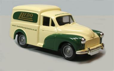 promotional Lledo model finished in cream and green with Lledo logo in gold, model length approx 8.2cm, height approx 3.7cm, moveable wheels