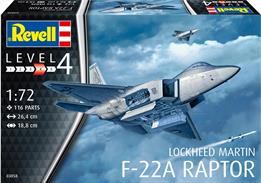 Revell 03858 1/72th Lockheed F-22a Raptor Jet Fighter Kit