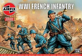 Airfix A00728V 1/76 Scale WW1 French Infantry Unpainted Figures
