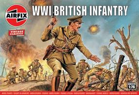 Airfix A00727V 1/76 Scale WW1 British Infantry Unpainted plastic Figures