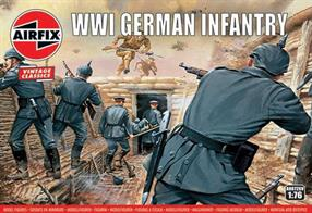 Airfix A00726V 1/76 Scale WW1 German Infantry Unpainted Plastic Figures