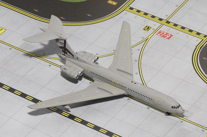 Gemini Jets 1/400 Vickers VC10 Royal Airforce Diecast Model Aircraft GMRAF061<br>Model length 125mm, wingspan 115mm