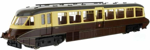 Second release of Dapol's superb GWR railcar model. This model is finished in the 1940s lined chocolate and cream livery with 'twin cities' crests on the ends and side doors.Car 16 was one of the first production design of railcars built by the Gloucester Railway Carriage and Wagon company in 1936 with the smoothly rounded body end shape and piston plunger buffers.Note - Scale model, suitable for radius 2 curves and larger.