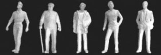 "Pack of 10 unpainted male figures (1/8"")."
