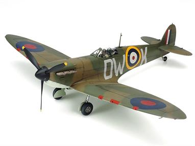 The legendary RAF Spitfire WW2 Battle of Britain Fighter Kit has received a complete makeover from Tamiya's designers, with new tooling, and the result is an updated and more accurate appearance for kit No. 61119 in the 1/48 Aircraft Series! Length 191mm, Wingspan 235mm