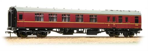 Bachmann Branchline 39-226C OO Gauge BR Mk.1 BCK Brake Corridor Composite Coach British Railways Maroon Livery.A detailed model of the BR mark 1 composite brake coach painted in the later British railways maroon livery.These brake composite coaches were very useful in short train formations, combining accomodation for first and second class passengers plus an office for the guard and small luggage stowage area into one coach. BCK coaches were used as 'through coaches' for many years, the single coach containing all the facilities needed for a train could be coupled to and shunted between long-distance trains to provide direct service between additional terminals. Era 6-7 1967-1982