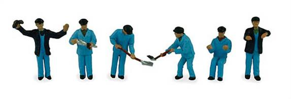 Bachmann OO Locomotive Staff Pack of 6 Figures 36-047Pack of six pre-painted figures in locomotive crew clothing.