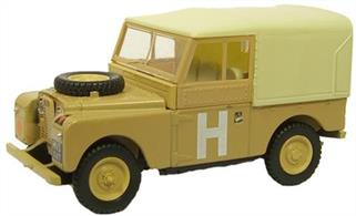 "Oxford Diecast Military Land Rover Series 1 88""WB Military Sand Livery1/76 ScaleRover chief engineer Maurice Wilks was inspired by his army-surplus Willys-Overland Jeep to create a workhorse vehicle for military and agricultural use - and for export abroad to kick-start both Rover's fortunes and the national economy after World War II. Prototypes were up and running by late 1947, and production of the Series I began at Solihull in summer 1948. It had permanent four-wheel-drive with low-ratio gearing and a locking freewheel mechanism, and a 50bhp, 1.6-litre engine from the Rover P3 saloon. It was fitted with lightweight body panels made from surplus aircraft-grade aluminium - steel was in short supply post-war - and came with army-surplus green paint. The Land Rover price started from just £450. Supply to the British forces started in 1949, the Land Rover replacing the Austin Champ and later, the rust-prone Austin Gipsy. Deliveries to organisations such as the Red Cross soon followed. The 100,000th Land Rover was made in autumn 1954 and by 1958, production ran to around 200,000. The invasion of Egypt in 1956, was an attempt to capture the Suez Canal and was originally codenamed Operation Hamilcar, hence the 'H' on the side of this 88 inch canvas back Land Rover. Although the Anglo-French-Israeli plan was later renamed Operation Musketeer."
