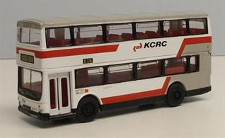Corgi 1/64 Kowloon Canton Railway Corporation Metrobus Double Decker 91710Part of the Kowloon Canton Railway Corporation.A fleet of 39 MCW Metrobus MkII buses were purchased by KCRC between 1989/90.