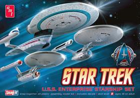 AMT/ERTL 1/2500 Star trek USS Enterprise Starship Set ANT660l/12Snap Together Construction.  No Glue or Paint Required.