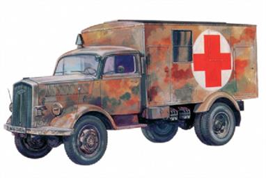 Italeri 7055 1/72 Scale German Kfz.305 WW2 AmbulanceDimensions - Length 82mm.This kit builds a model of the German WW2 Kfz. 305 ambulance, based on the Opel Blitz medium truck. Painting details and decals are supplied to model three vehicles from 1940 to 1944.