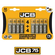 JCB Super Alkaline batteries provide premium alkaline quality for high and medium drain appliances ensuring reliable and dependable power – lasting up to 30% longer than standard alkaline batteries.