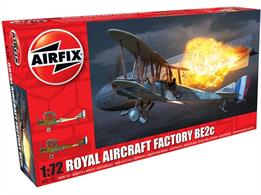 Airfix A02101 1/72nd Royal Aircraft Facility BE2C WW1 BomberNumber of Parts 54 Length 115mm  Wingspan 156mm