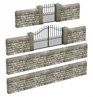 Scenecraft 44-555 00 Gauge Stone Walls and Gates - VariousLenth of Wall 100mm,  Small Walling 30mm