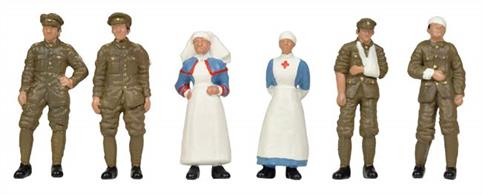 Bachmann OO WW1 Medical Staff and Soldiers 36-409WW1 Medical Staff and Soldiers