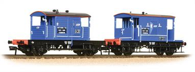 Pack of 2 brake vans in Network South East blue livery.Contains one BR standard 20ton and one former Southern 20ton 'pill box' type brake vans.