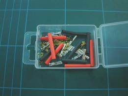 Pack containing 10 Male & 10 Female Micro Spade Connectors with the appropriate heatshrink.The female spade will fit Hornby & Peco point motors.