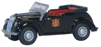 Oxford Diecast 1/76 Nottingham City Police Morris Eight Tourer 76ME004
