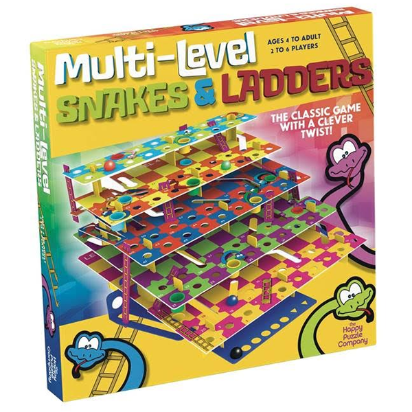 The Happy Puzzle Company Multi Level Snakes and Ladders  HPCSNL