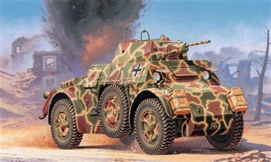 Italeri 7052 1/72 Scale Italian Autoblinda AB43 Armoured Car - WW2Dimensions - Length 73mm.The kit comes complete with decals for 2 versions (German and Italian) and full assembly instructions.Glue and paints are required to assemble and complete the model (not included)