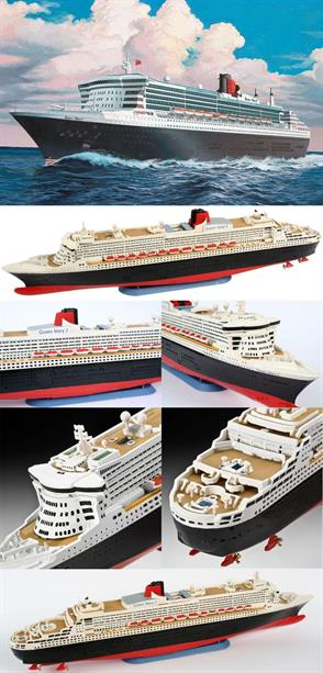 Revell 1/1200 Queen Mary 2 Ocean Liner Kit 05808Number of parts 45    Model Length 287mmGlue and paints are required to assemble and complete the model (not included)