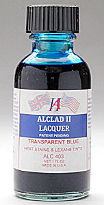 Alclad Transparent Blue Heat Stains and Lexane Tints Lacquer ALC403