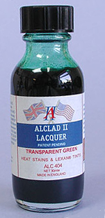 Alclad Transparent Green Stains and Lexane Tints Lacquer ALC404