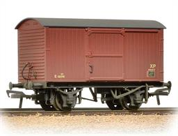 A detailed model of the LNER pattern covered box van with corrugated iron end panels and no ventilators.This model is painted in the later version of the BR bauxite livery and lettering.