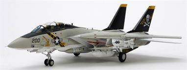 Tamiya 1/48 USN F-14A Tomcat Carrier Based Fighter Kit 61114Glue and paints are required