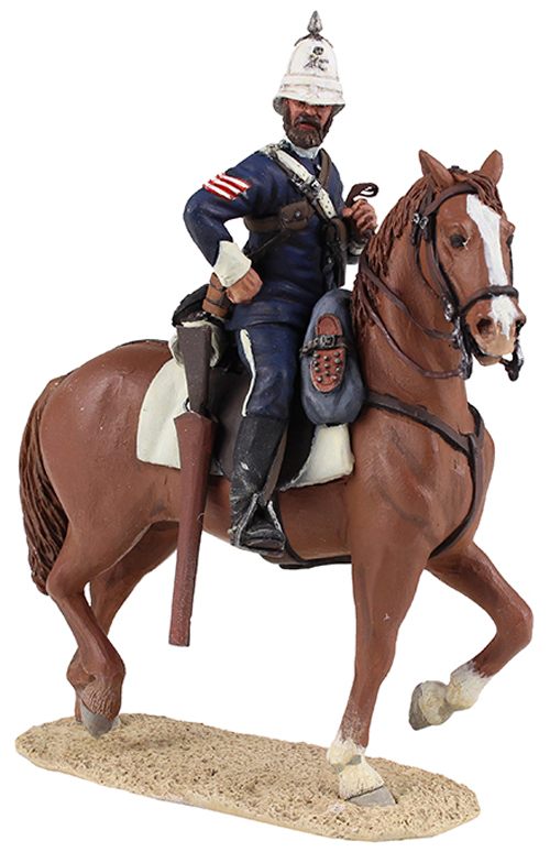 WBritain Natal Carbineer Sergeant mounted on his horse.<p>The Natal Carbineers Regiment traces its roots to 1854 but it was formally raised on 15 January 1855</p><p>2 Piece Set</p><p>1/30 Scale</p><p>Matt Finish</p>