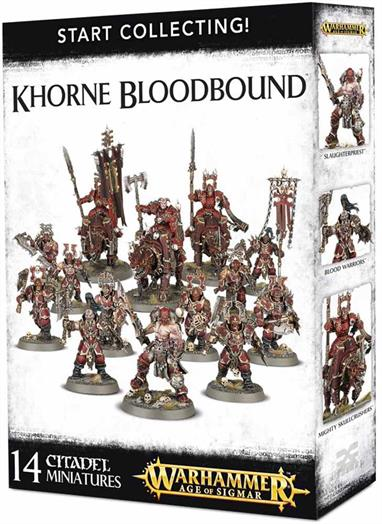This is a great-value box set that gives you an immediate collection of fantastic Khorne Bloodbound miniatures, which you can assemble and use right away in games of Warhammer Age of Sigmar!