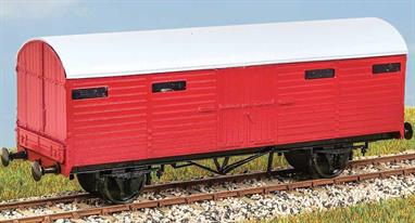 Built in 1935- 1937, 125 of these useful vans (diagram 1929) carried parcels, mail and motor vehicles in passenger and parcels trains until the early 1970s. These finely moulded plastic wagon kits come complete with pin point axle wheels and bearings.Glue and paints are required to assemble and complete the model (not included)