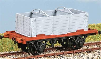 With DX Open Container (diagram 104) The standard LNER container wagon from the mid 1930s. In service until 1970. Open containers were widely used until the early 1960s. These finely moulded plastic wagon kits come complete with pin point axle wheels and bearings.Glue and paints are required to assemble and complete the model (not included)
